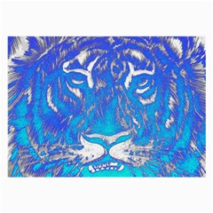 Background Fabric With Tiger Head Pattern Large Glasses Cloth
