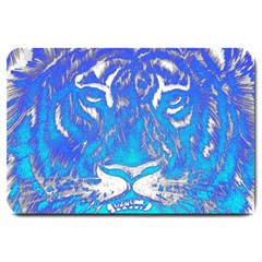 Background Fabric With Tiger Head Pattern Large Doormat