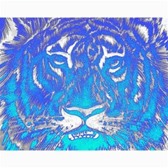 Background Fabric With Tiger Head Pattern Canvas 11  X 14