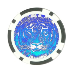 Background Fabric With Tiger Head Pattern Poker Chip Card Guard