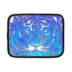 Background Fabric With Tiger Head Pattern Netbook Case (small)