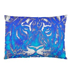 Background Fabric With Tiger Head Pattern Pillow Case
