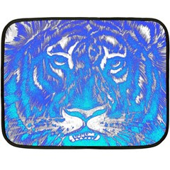 Background Fabric With Tiger Head Pattern Double Sided Fleece Blanket (mini)