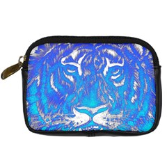 Background Fabric With Tiger Head Pattern Digital Camera Cases