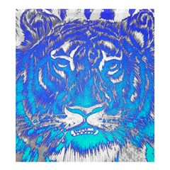 Background Fabric With Tiger Head Pattern Shower Curtain 66  X 72  (large)