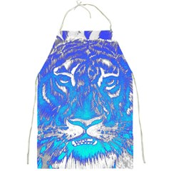 Background Fabric With Tiger Head Pattern Full Print Aprons