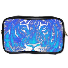 Background Fabric With Tiger Head Pattern Toiletries Bags
