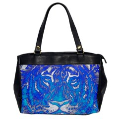 Background Fabric With Tiger Head Pattern Office Handbags