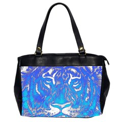 Background Fabric With Tiger Head Pattern Office Handbags (2 Sides)