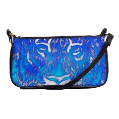 Background Fabric With Tiger Head Pattern Shoulder Clutch Bags