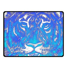 Background Fabric With Tiger Head Pattern Fleece Blanket (small)