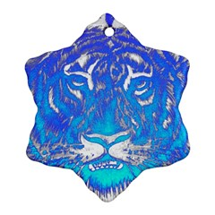 Background Fabric With Tiger Head Pattern Ornament (snowflake)