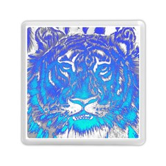 Background Fabric With Tiger Head Pattern Memory Card Reader (square)