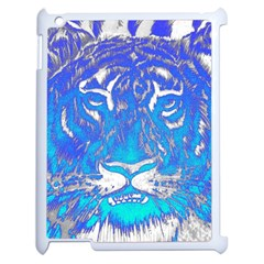Background Fabric With Tiger Head Pattern Apple Ipad 2 Case (white)