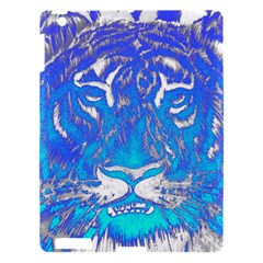 Background Fabric With Tiger Head Pattern Apple Ipad 3/4 Hardshell Case