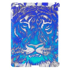 Background Fabric With Tiger Head Pattern Apple Ipad 3/4 Hardshell Case (compatible With Smart Cover)
