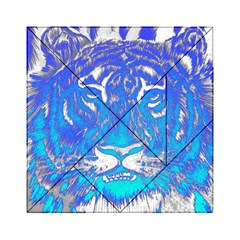 Background Fabric With Tiger Head Pattern Acrylic Tangram Puzzle (6  X 6 )