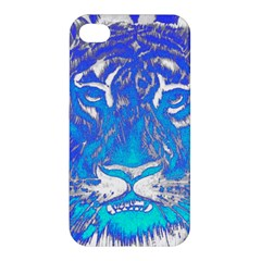 Background Fabric With Tiger Head Pattern Apple Iphone 4/4s Premium Hardshell Case