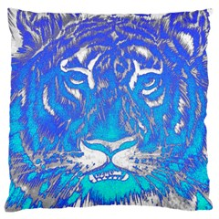 Background Fabric With Tiger Head Pattern Large Cushion Case (two Sides)