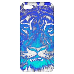 Background Fabric With Tiger Head Pattern Apple Iphone 5 Hardshell Case