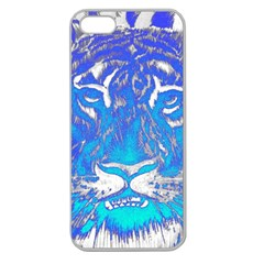 Background Fabric With Tiger Head Pattern Apple Seamless Iphone 5 Case (clear)