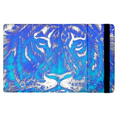 Background Fabric With Tiger Head Pattern Apple Ipad 2 Flip Case