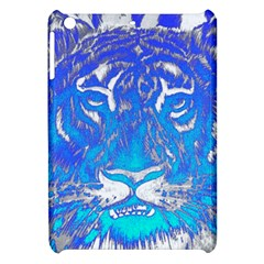 Background Fabric With Tiger Head Pattern Apple Ipad Mini Hardshell Case