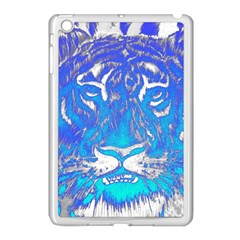 Background Fabric With Tiger Head Pattern Apple Ipad Mini Case (white)