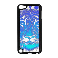 Background Fabric With Tiger Head Pattern Apple Ipod Touch 5 Case (black)