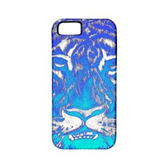 Background Fabric With Tiger Head Pattern Apple Iphone 5 Classic Hardshell Case (pc+silicone)