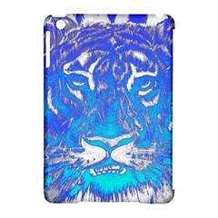 Background Fabric With Tiger Head Pattern Apple iPad Mini Hardshell Case (Compatible with Smart Cover)