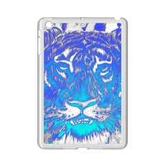 Background Fabric With Tiger Head Pattern Ipad Mini 2 Enamel Coated Cases