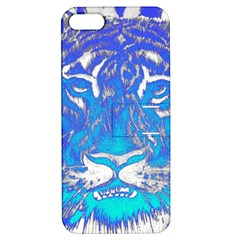 Background Fabric With Tiger Head Pattern Apple Iphone 5 Hardshell Case With Stand