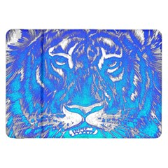 Background Fabric With Tiger Head Pattern Samsung Galaxy Tab 8 9  P7300 Flip Case