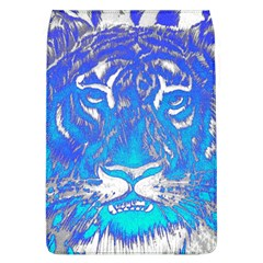 Background Fabric With Tiger Head Pattern Flap Covers (l)