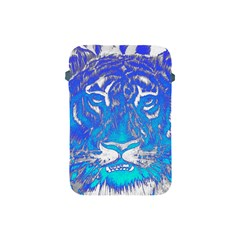 Background Fabric With Tiger Head Pattern Apple Ipad Mini Protective Soft Cases