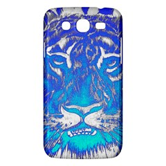 Background Fabric With Tiger Head Pattern Samsung Galaxy Mega 5 8 I9152 Hardshell Case