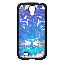 Background Fabric With Tiger Head Pattern Samsung Galaxy S4 I9500/ I9505 Case (black)