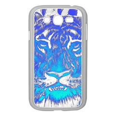 Background Fabric With Tiger Head Pattern Samsung Galaxy Grand Duos I9082 Case (white)