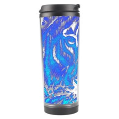 Background Fabric With Tiger Head Pattern Travel Tumbler