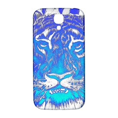 Background Fabric With Tiger Head Pattern Samsung Galaxy S4 I9500/i9505  Hardshell Back Case