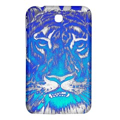 Background Fabric With Tiger Head Pattern Samsung Galaxy Tab 3 (7 ) P3200 Hardshell Case