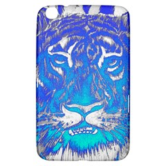 Background Fabric With Tiger Head Pattern Samsung Galaxy Tab 3 (8 ) T3100 Hardshell Case