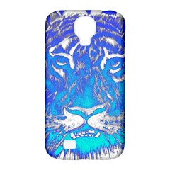 Background Fabric With Tiger Head Pattern Samsung Galaxy S4 Classic Hardshell Case (PC+Silicone)