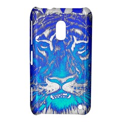 Background Fabric With Tiger Head Pattern Nokia Lumia 620