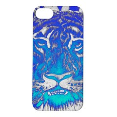 Background Fabric With Tiger Head Pattern Apple Iphone 5s/ Se Hardshell Case
