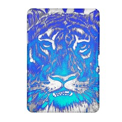 Background Fabric With Tiger Head Pattern Samsung Galaxy Tab 2 (10.1 ) P5100 Hardshell Case