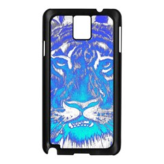 Background Fabric With Tiger Head Pattern Samsung Galaxy Note 3 N9005 Case (black)