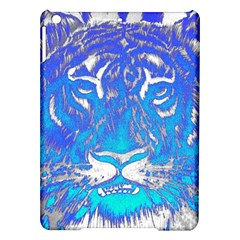 Background Fabric With Tiger Head Pattern Ipad Air Hardshell Cases