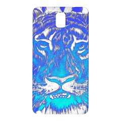 Background Fabric With Tiger Head Pattern Samsung Galaxy Note 3 N9005 Hardshell Back Case
